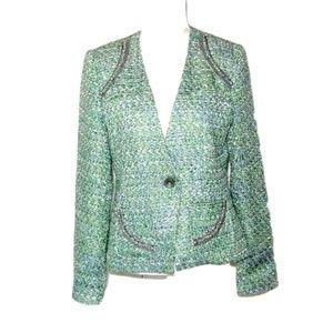 Ellen Tracy Embellished Tweed blazer Jacket 10